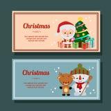 Christmas season decoration santa claus horizontal banner. Cute christmas season decoration santa claus horizontal banner royalty free illustration