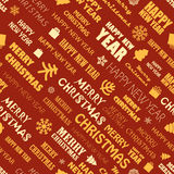 Christmas season elements seamless background. Greeting card elements Royalty Free Stock Images