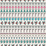 2016 Christmas season hand drawn vector seamless. Pattern. Sketch scribble winter design graphic element. New Year tiling texture for design. Illustration Stock Images