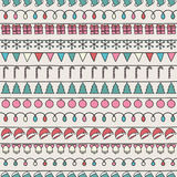 2016 Christmas season hand drawn vector seamless. Pattern. Sketch scribble winter design graphic element. New Year tiling texture for design. Illustration Royalty Free Stock Photography