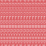 2016 Christmas season hand drawn vector seamless. Pattern. Sketch scribble winter design graphic element. New Year tiling texture for design. Illustration Stock Image