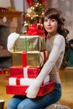 Christmas season makes me happy Stock Images