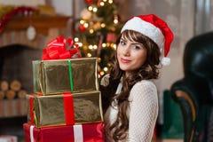 Christmas season makes me happy Stock Photos