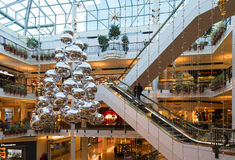Christmas Season at Pioneer Place in Portland, OR. Portland, Oregon USA - December 6th, 2016. Pioneer Place in Portland, OR is a beautiful mall with multiple stock photo