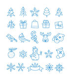 Christmas season vector elements collection. Xmas hand-drawn elements Royalty Free Stock Photography