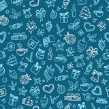 Christmas season vector seamless pattern Stock Images