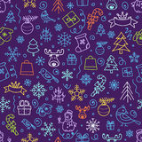Christmas season vector seamless pattern Stock Photo