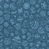 Christmas season vector seamless pattern Royalty Free Stock Image