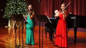Christmas Season Violin Music in Maryland stock video footage