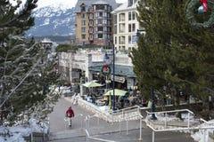 Christmas season at Whistler village, Whistler, British Columbia royalty free stock images