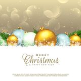 Christmas seasonal background with decorative elements. Illustration Stock Illustration