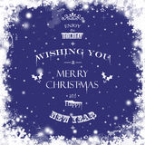 Christmas. Seasonal postcard with Christmas wishes Royalty Free Stock Photo