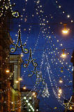 The Christmas seasone begins in Helsinki. The Christmas lights a Stock Image