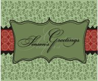 Christmas Seasons Greetings Background Wallpaper Stock Photo