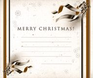 Christmas seasons postcard Stock Photos