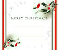Christmas seasons postcard Stock Photography