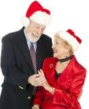 Christmas Seniors - Gift of Jewelry Stock Photo