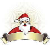 Christmas series: Happy Santa Claus with banner Royalty Free Stock Image