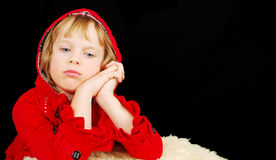 Christmas serious girl. Stock Image