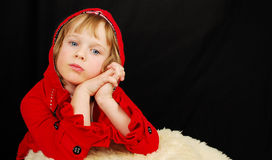 Christmas serious girl. Royalty Free Stock Photo