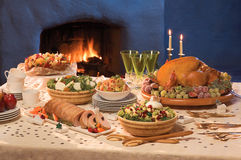 Christmas Served Table Royalty Free Stock Photo