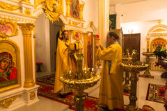 Christmas service and the vigil on Feast of the Nativity of Christ (Russian Orthodox Church) Stock Photography