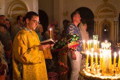 Christmas service and the vigil on Feast of the Nativity of Christ (Russian Orthodox Church) Royalty Free Stock Photography
