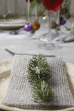 Christmas serviette Royalty Free Stock Photography