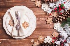 Christmas serving table Stock Image