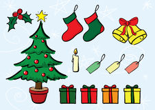 Christmas Set. Set of vectorial Christmas icons Royalty Free Stock Images