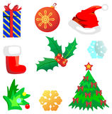 Christmas set. Different Christmas set.  vector illustration Royalty Free Stock Images