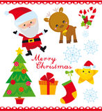 Christmas set. Vector illustration of set of christmas elements royalty free illustration