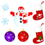 Christmas set Royalty Free Stock Photo