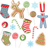 Christmas set. Christmas celebrate set. Vector illustration Stock Photography