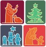 Christmas set (2) Royalty Free Stock Photos
