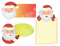 Christmas set. Of images with Santa Claus Royalty Free Illustration