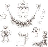 Christmas set. Christmas tree. new year Vector Illustration