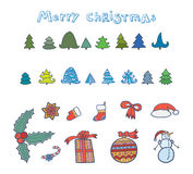 Christmas set Stock Photos