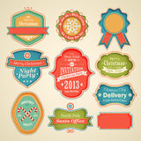 Christmas set. Scrapbook labels and emblems Royalty Free Stock Photography