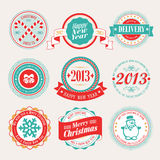 Christmas set. Christmas set - labels and emblems. Vector illustration Stock Photo