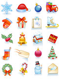 Christmas Set. Of icons, vector illustration, an addition format is available Stock Images
