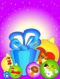 Christmas set. Beautiful celebratory set of New Year's toys Royalty Free Illustration