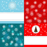 Christmas set background Stock Images