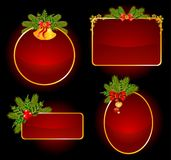 Christmas set of backgrounds. Illustration for a design Stock Photo