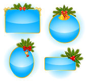 Christmas set of backgrounds Royalty Free Stock Photos