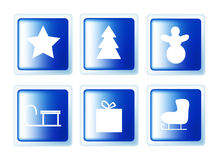 Christmas set buttons Stock Images