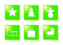 Christmas set buttons Royalty Free Stock Images