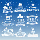 Christmas set of Calligraphic And Typographic Design With Labels Stock Photo