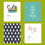 Christmas set of cards Royalty Free Stock Photos