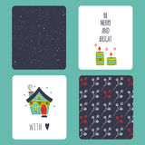 Christmas set of cards Royalty Free Stock Image